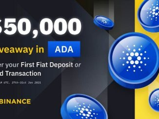 Deposit Your First Fiat On Binance To Get $50,000 Giveaway In ADA