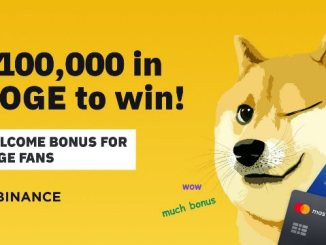 Trade And Buy DOGE On Binance Exchange To Get $100,000 Bonus