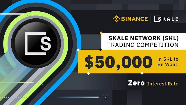 SKALE Network Trading Competition On Binance - Win $50,000 In SKL Tokens