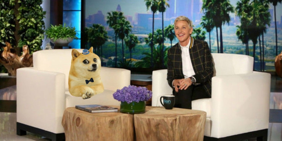 Ellen is interested with Dogecoin