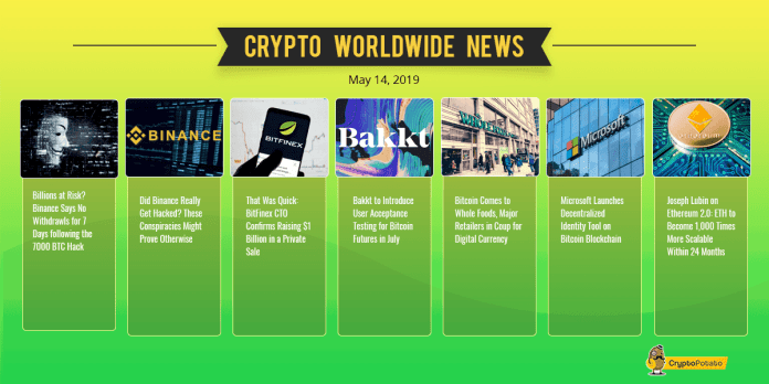 Crypto Weekly Update: Binance Hack, Bitcoin $8K FOMO Following Crypto Adoption