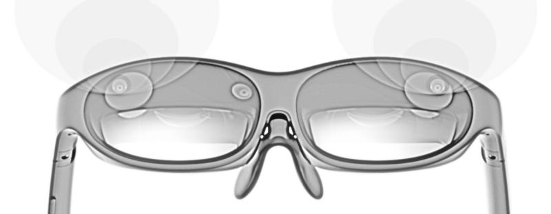 nreal glasses in monochrome