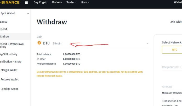 withdraw Naira binance