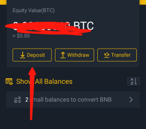Binance BTC wallet address