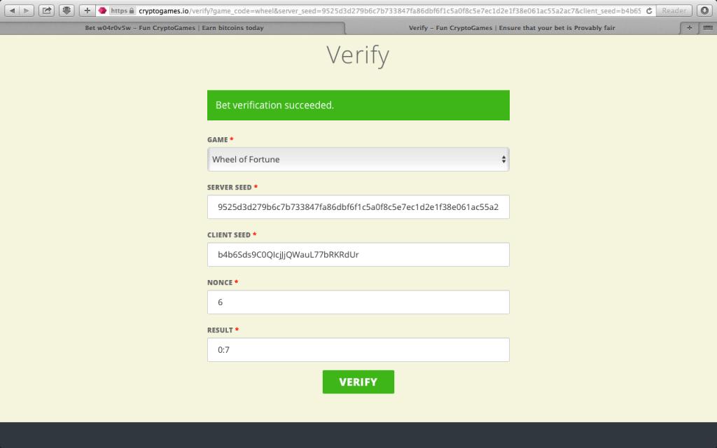 How to verify Provably Fair Bitcoin gaming
