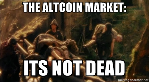 Monty Python says Altcoins 'Not Dead Yet'