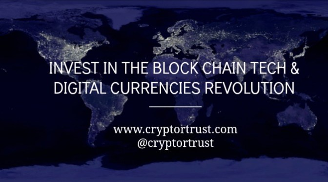 CRYPTOR TRUST LAUNCH BLOCKCHAIN CURRENCY EXCHANGE VEHICLE