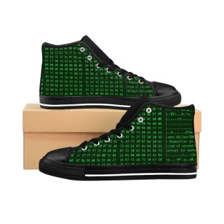 Bitcoin Genesis Block Unisex High-top Sneakers (Green)