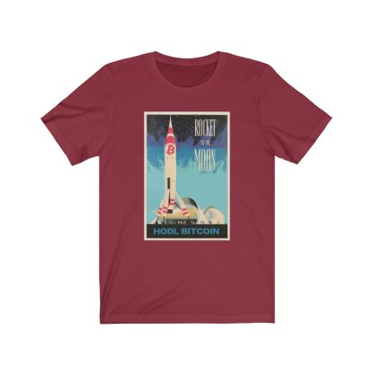 Rocket To The Moon Bitcoin T-Shirt