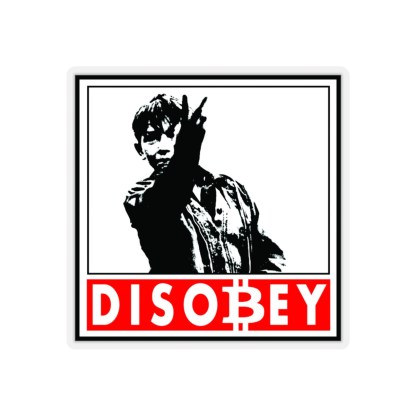 Disobey Bitcoin Crypto Stickers