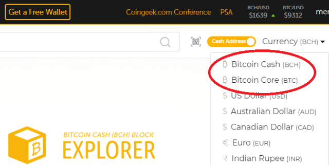 Bitcoin.com refers to BCH as Bitcoin Cash once again.