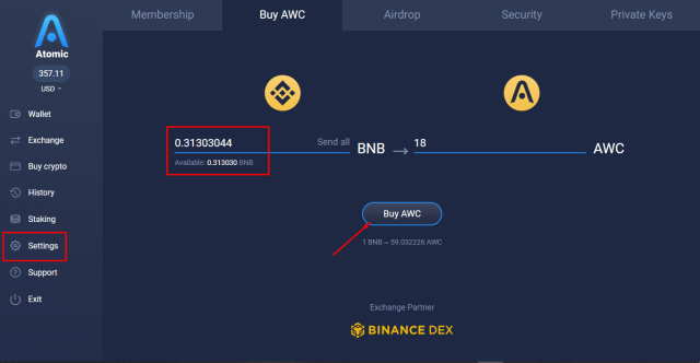 Buy Atomic Wallet Coin