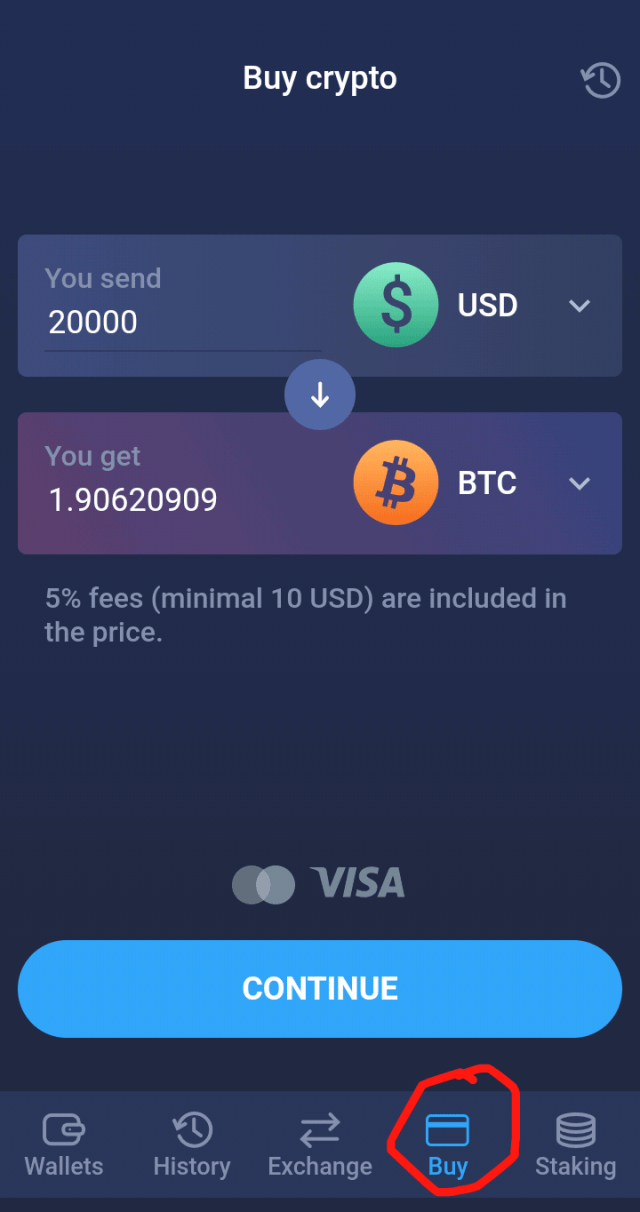 Buy Bitcoin Instantly on Atomic Wallet (Mobile)