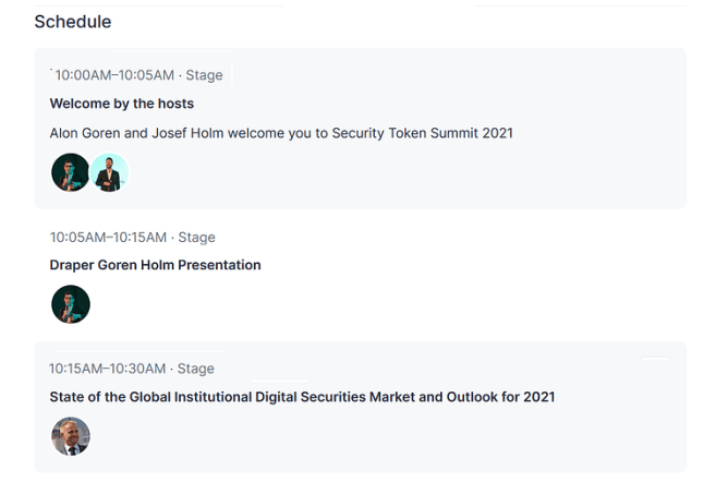 Security Token Summit Live Event Streaming