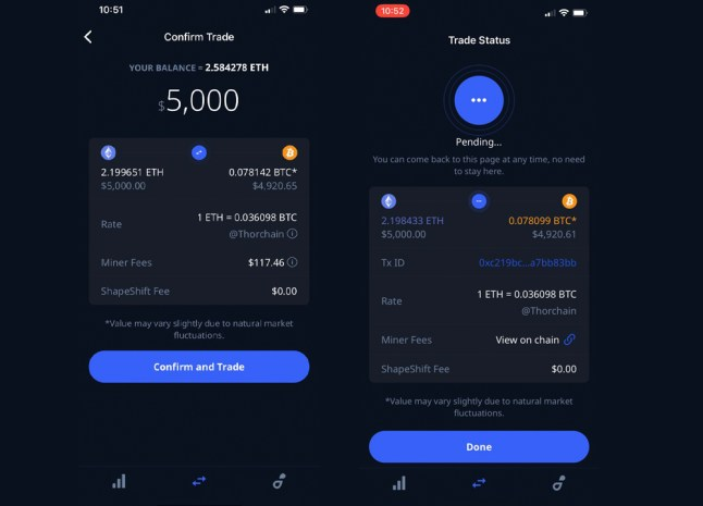 Shapeshift Reveals Platform Supports Unwrapped Swaps via Thorchain With No KYC