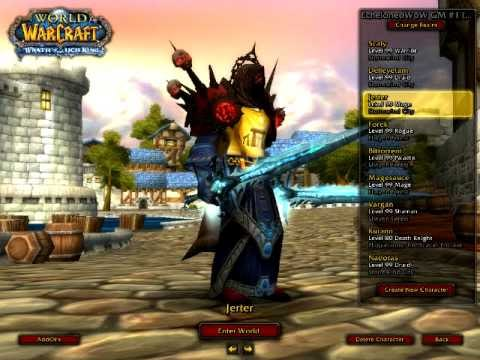 World of Warcraft Level 99 Avatar