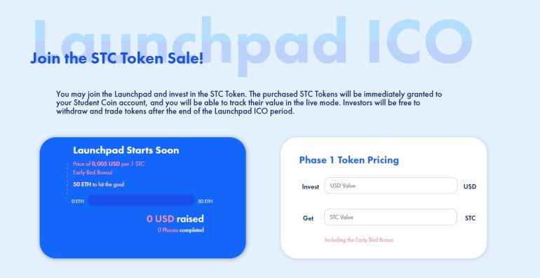 Student Coin Launchpad