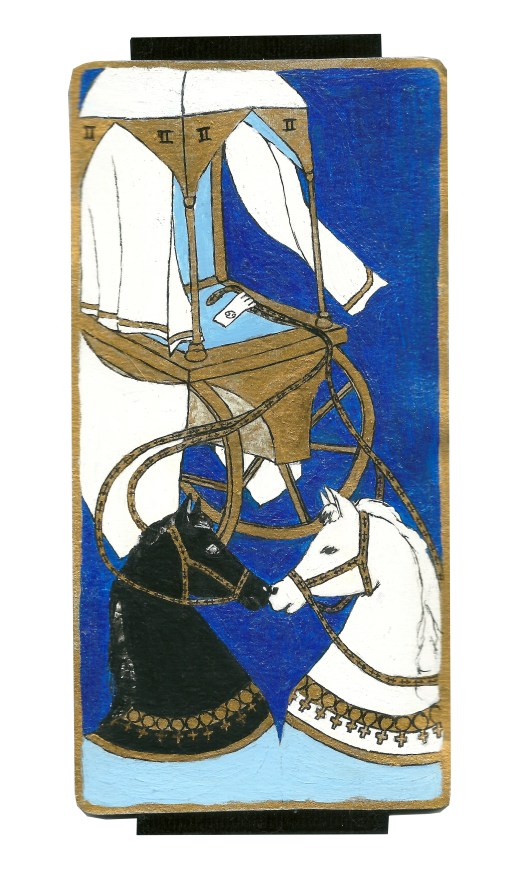 Dyer Tarot the Chariot Sagittarius by Crystal Dyer Tarot Cards Hand painted
