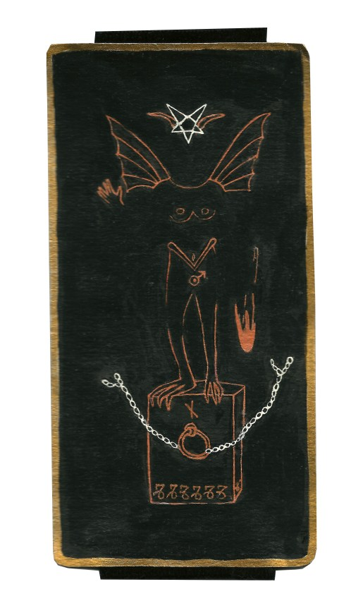 Dyer Tarot the Devil Mars by Crystal Dyer Tarot Cards Hand painted