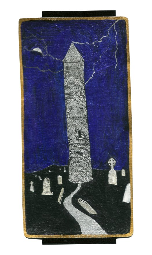 Dyer Tarot the Tower Aries by Crystal Dyer Tarot Cards Hand painted