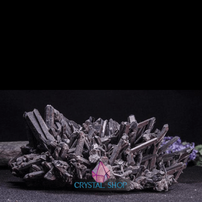 black quartz cluster