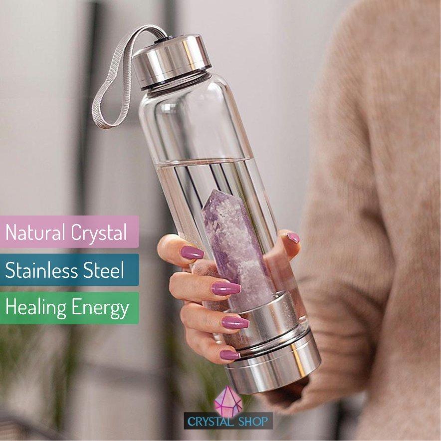 1 Crystal Water Bottle - Healing Crystal Infused Water