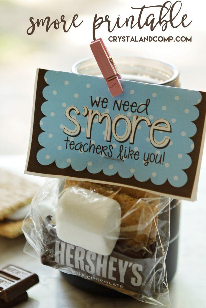 smore printable for your teacher