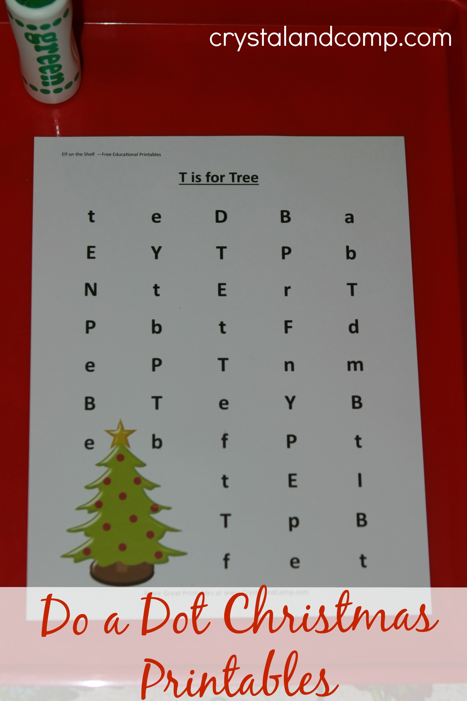 Do A Dot Christmas Printables