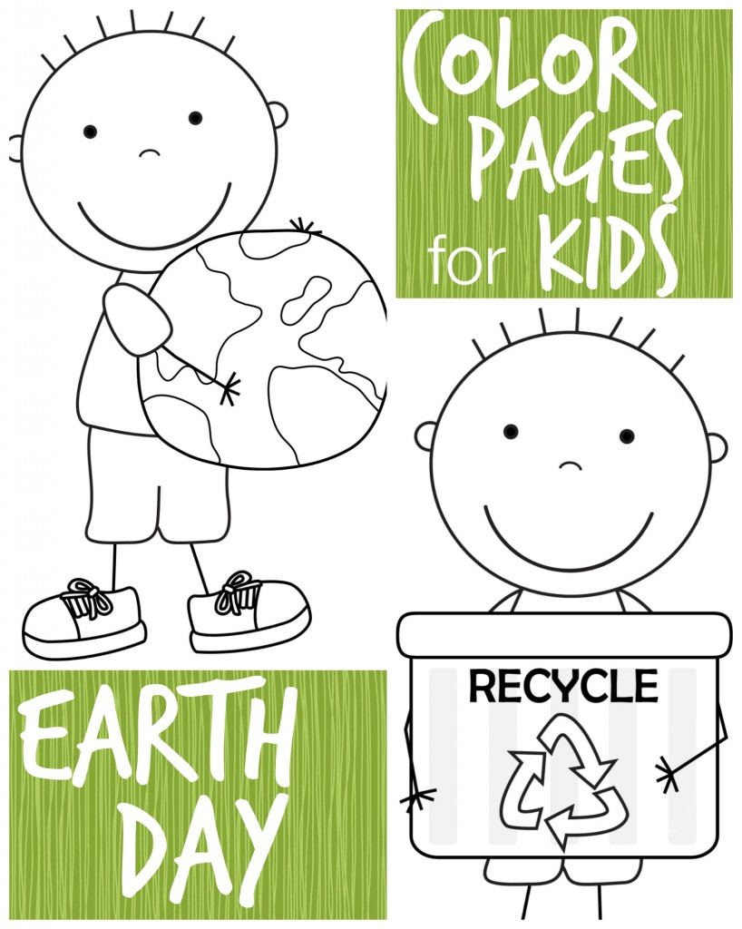 color pages for kids earth day boys