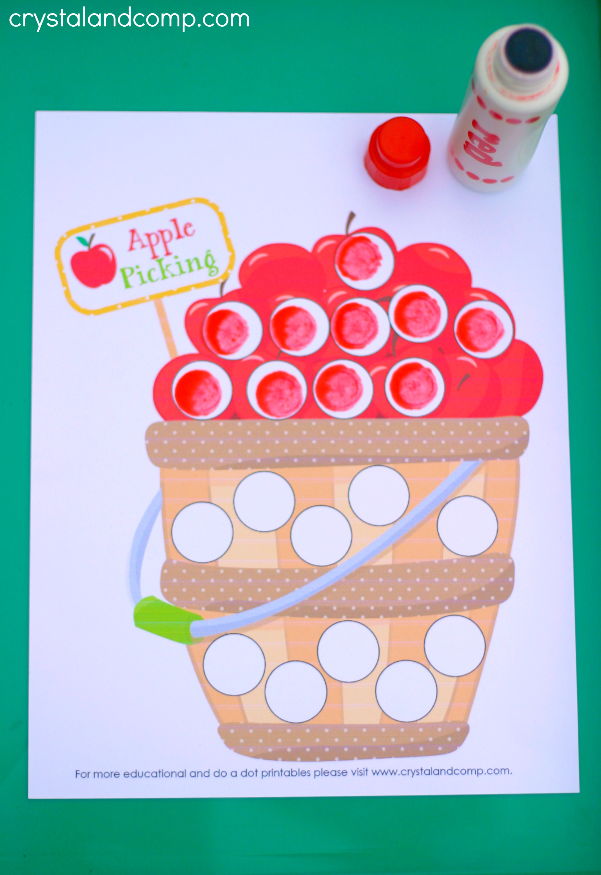 Preschool Do A Dot Printables A Is For Apple