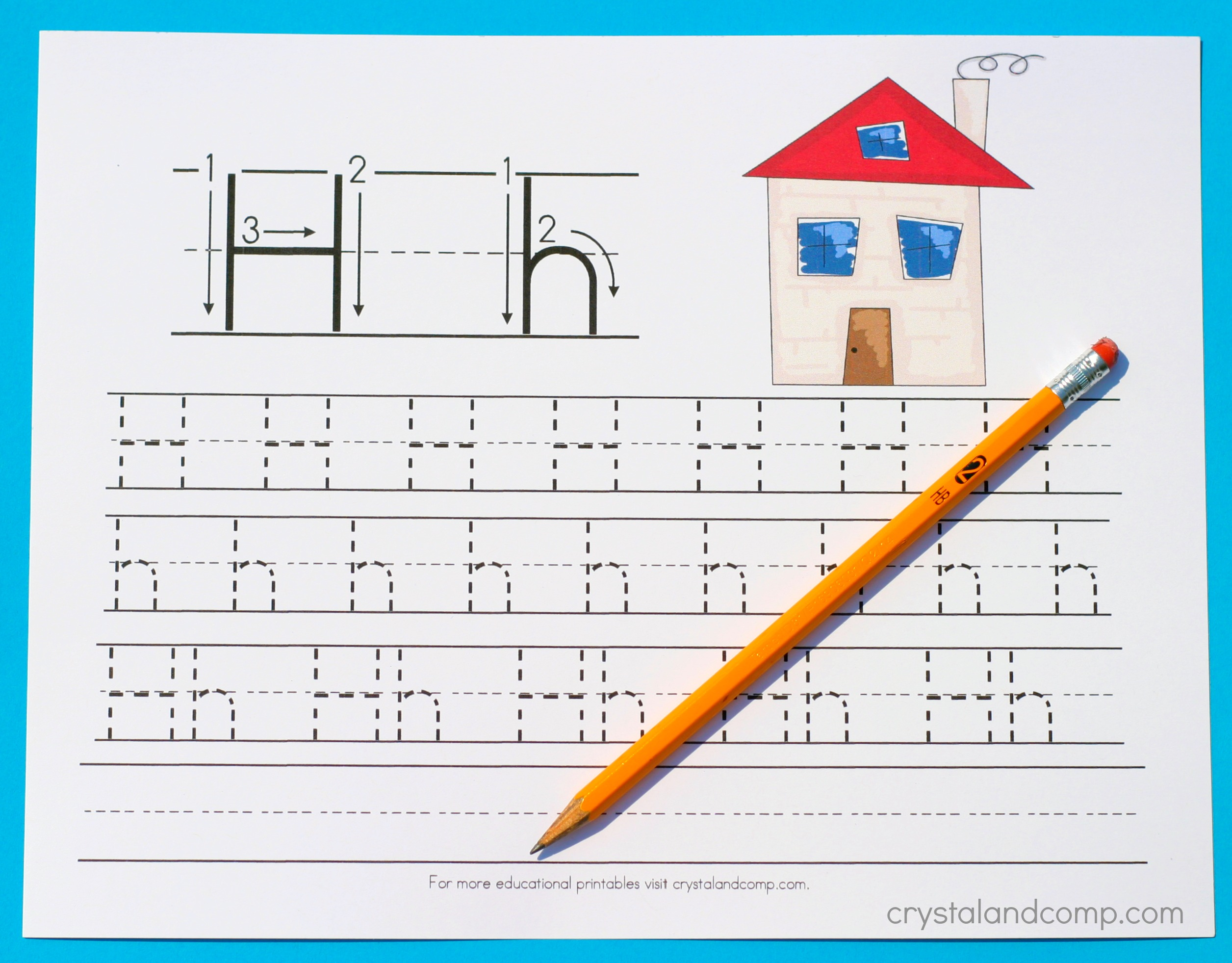 Handwriting Practice For Preschool H