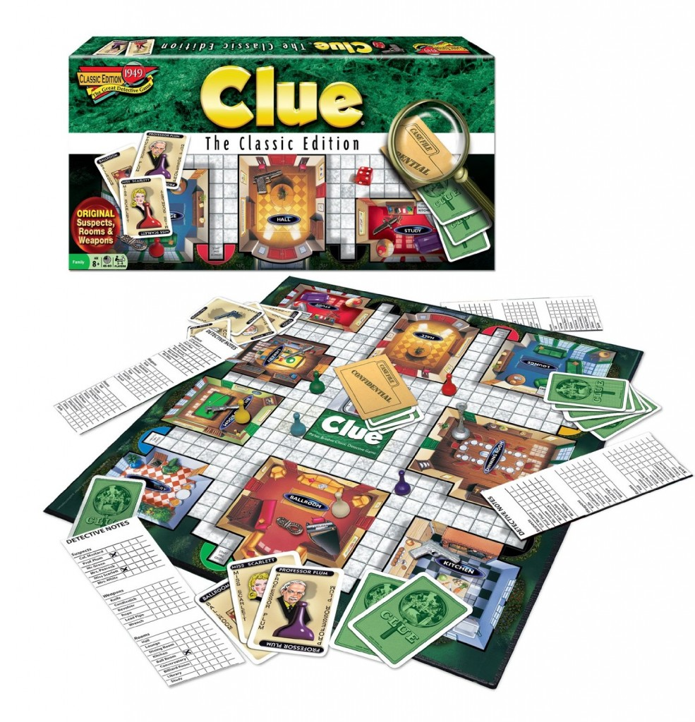 Weapons Board Game Clue