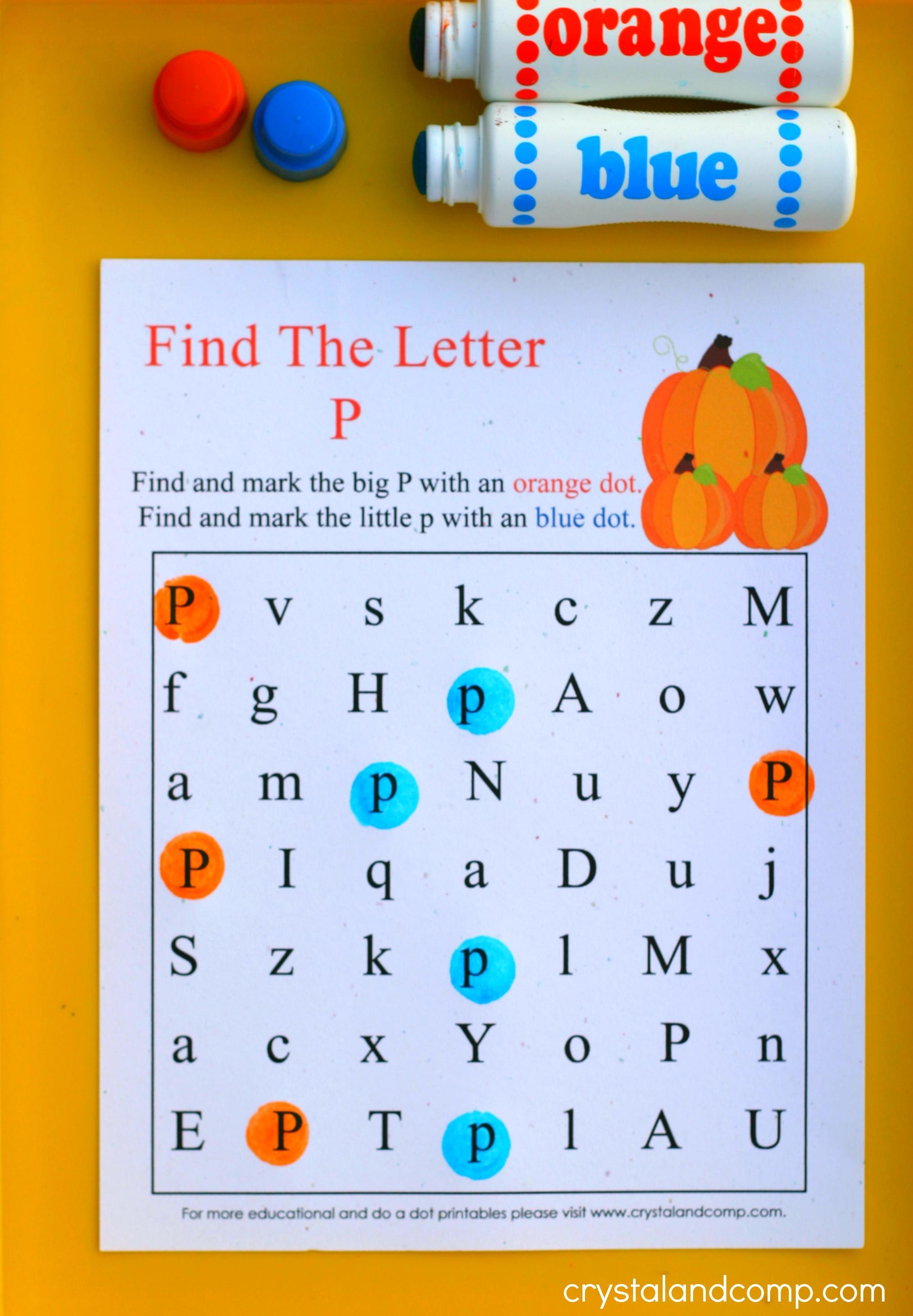 Pumpkin Do A Dot Printables