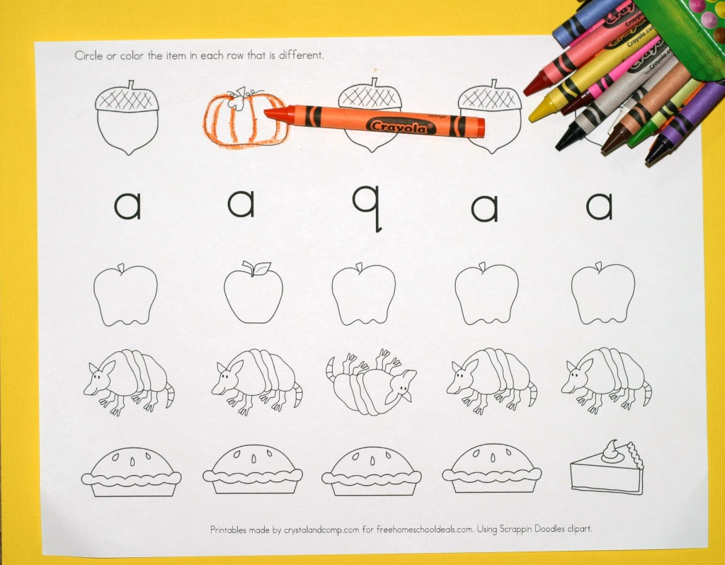 Free Instant Download Printable Alphabet Worksheets