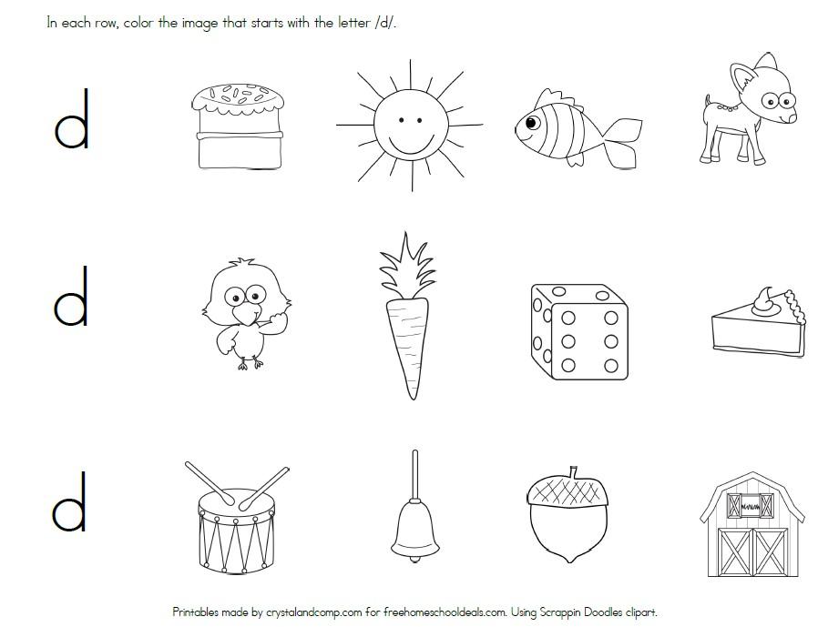 free letter d worksheets instant download free homeschool deals. Black Bedroom Furniture Sets. Home Design Ideas