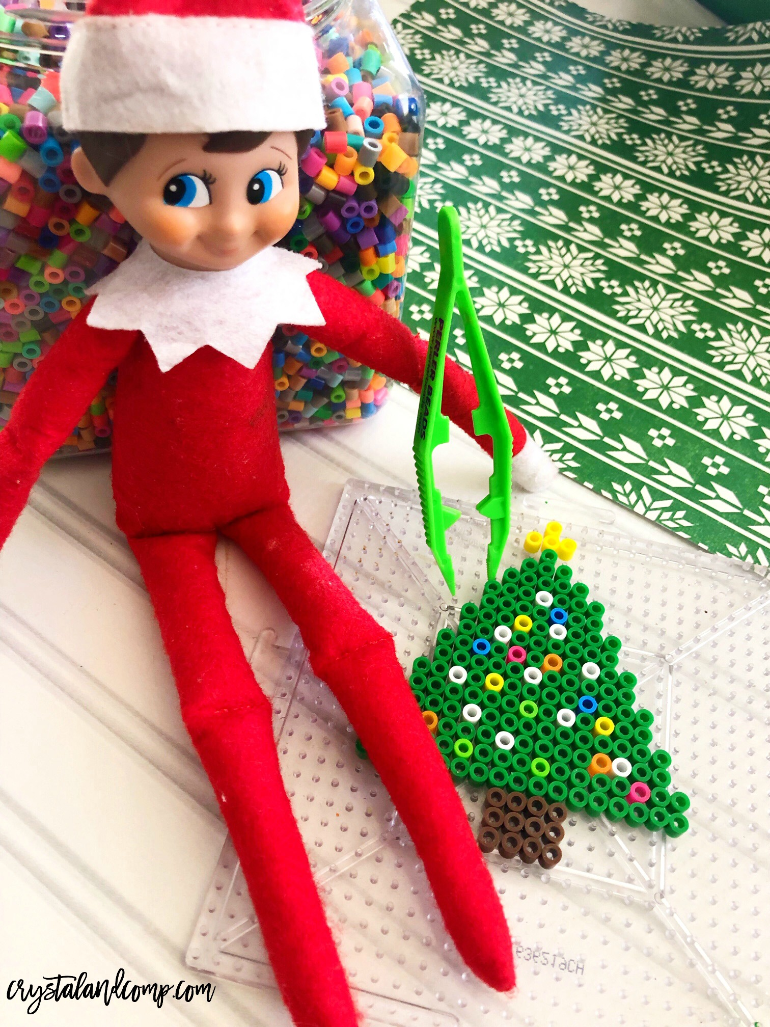 Elf On The Shelf Beaded Ornaments