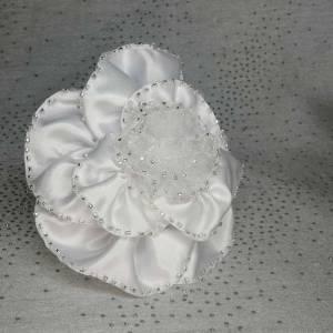 White Bridal Hair Comb Cara