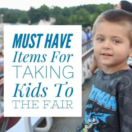 Must Have Items for Taking Kids to the Fair