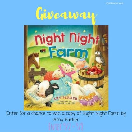 night night farm book giveaway