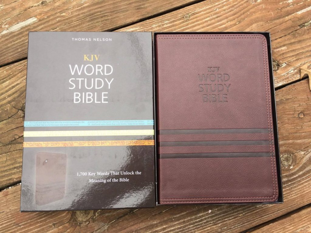 KJV Word Study Bible Review 1700 words to unlocking the key to the bible