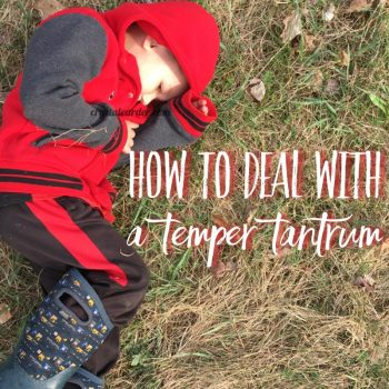 How to Deal With A Terrible Temper Tantrum