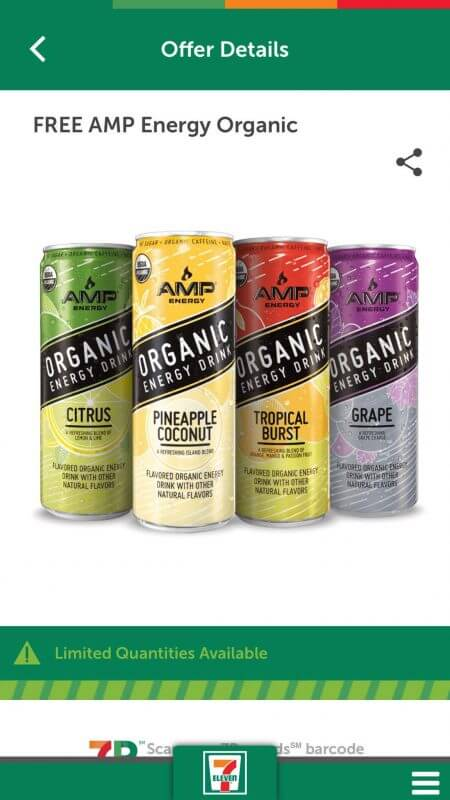 Hurry!!! FREE Amp Organic At 7-Eleven 9/5-9/10!