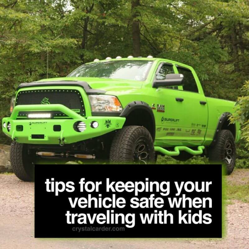 Tips for Keeping Car Safe When Traveling with Kids #ad