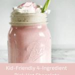 4 Ingredient Pink Hot Chocolate