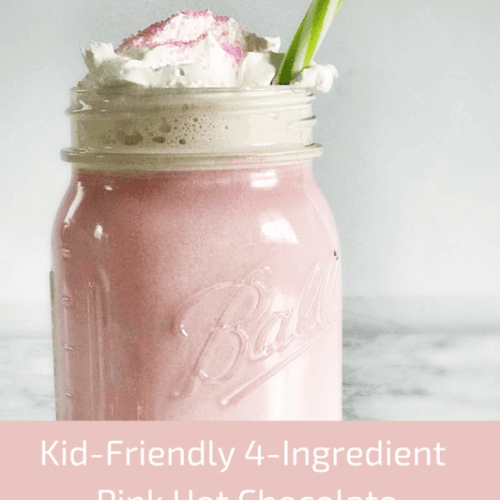 4 Ingredient Pink Hot Chocolate