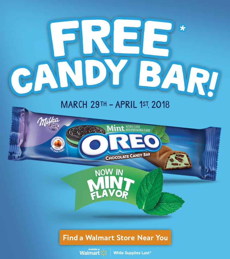 Free OREO Chocolate Candy Bar This Easter Weekend at Walmart