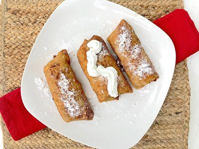 New Fall Favorite Dessert: Apple Crisp Egg Rolls Recipe 76