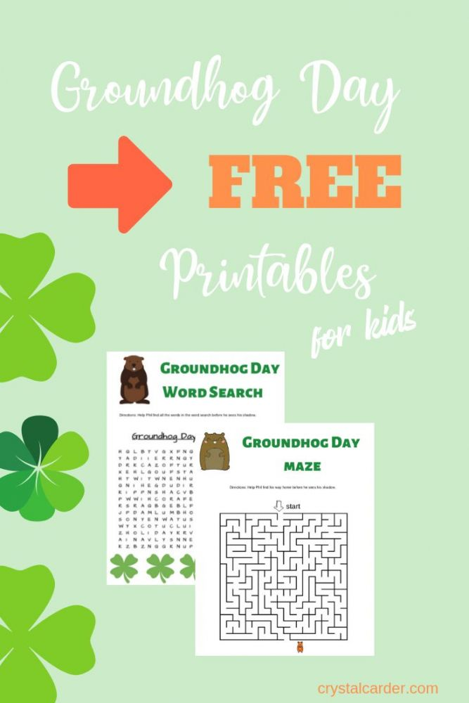Groundhog Day Activities for Kids - Free Printable Worksheets 73