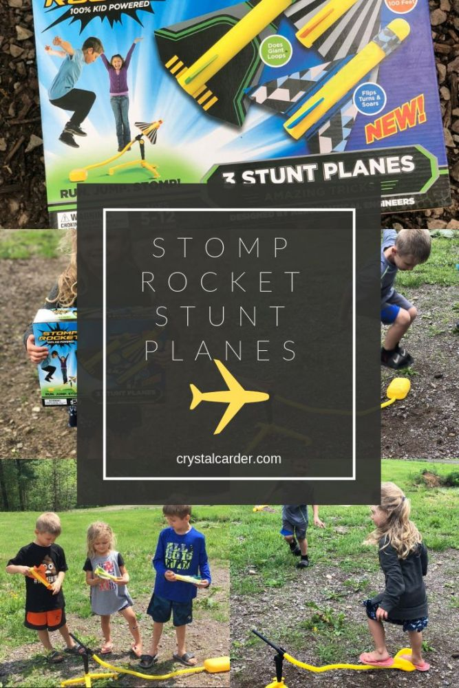Stomp Rocket® Stunt Planes - Three Pack Review Pinnable image